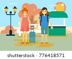 people holiday background | Shutterstock .eps vector #776418571