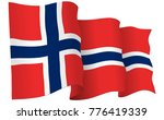 norway flag waving isolated on...   Shutterstock .eps vector #776419339