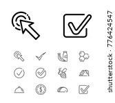 editable icons set with dollar  ...