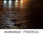 glistening paving stone from... | Shutterstock . vector #776425111