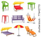 Garden Furniture Icon Set. ...