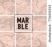 marble texture set. pink  cream ... | Shutterstock .eps vector #776431015