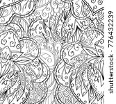 tracery seamless pattern.... | Shutterstock .eps vector #776432239