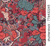 tracery seamless pattern.... | Shutterstock .eps vector #776432245