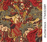 tracery seamless pattern.... | Shutterstock .eps vector #776432389
