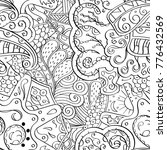 tracery seamless pattern.... | Shutterstock .eps vector #776432569