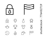 editable icons set with time ...