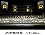 low angle shot of a mixing desk ... | Shutterstock . vector #77643511