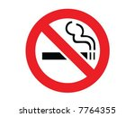 no smoking sign. vector... | Shutterstock .eps vector #7764355