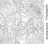 tracery seamless pattern.... | Shutterstock .eps vector #776436055