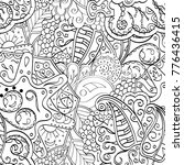 tracery seamless pattern.... | Shutterstock .eps vector #776436415