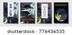 liquid ink marble cover... | Shutterstock .eps vector #776436535