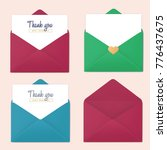 set of blank colorful realistic ... | Shutterstock .eps vector #776437675