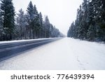 Empty Winter Road During A...