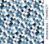 seamless retro blue tile pattern | Shutterstock .eps vector #776440177