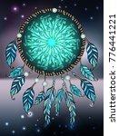sacred geometry illustration... | Shutterstock .eps vector #776441221