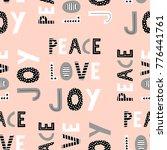 peace  love  joy. seamless... | Shutterstock .eps vector #776441761