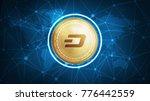 dash symbol on futuristic hud... | Shutterstock . vector #776442559