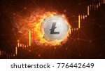 golden ethereum coin in fire... | Shutterstock . vector #776442649