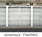 shutter metal door  rolling...   Shutterstock . vector #776459041
