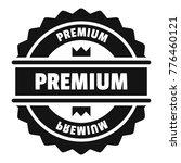 premium logo. simple... | Shutterstock .eps vector #776460121