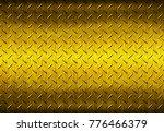 metal texture background or... | Shutterstock . vector #776466379