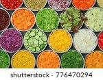 top view of salad bar with... | Shutterstock . vector #776470294