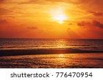 beautiful sunset on the sea | Shutterstock . vector #776470954