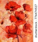 Poppy Flowers Handmade Oil...
