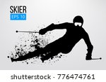 silhouette of a skier isolated. ... | Shutterstock .eps vector #776474761