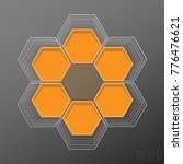 logo design based on hexagons | Shutterstock .eps vector #776476621