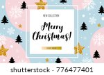 christmas  new year  winter... | Shutterstock .eps vector #776477401