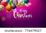 vector merry christmas... | Shutterstock .eps vector #776479027