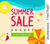 summer sale vector illustration ...   Shutterstock .eps vector #776479687