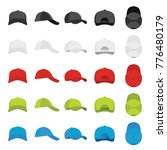 baseball cap views icons set.... | Shutterstock .eps vector #776480179