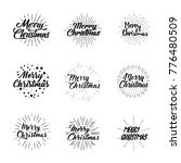 merry christmas. typography set.... | Shutterstock .eps vector #776480509