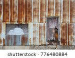 Old Exterior Rusty Corrugated...