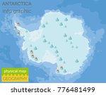antarctica physical map... | Shutterstock .eps vector #776481499