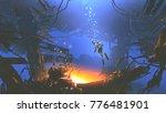 fantasy underwater scene of... | Shutterstock . vector #776481901