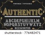 font alphabet script typeface... | Shutterstock .eps vector #776482471