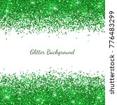 green glitter on white... | Shutterstock .eps vector #776483299