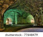 Illuminated Interior Of The...