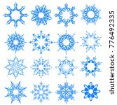 vector snowflake icons set.... | Shutterstock .eps vector #776492335