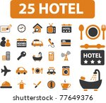 25 hotel icons  signs  vector