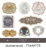 vintage labels set  vector | Shutterstock .eps vector #77649775