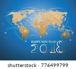 world map and the inscription... | Shutterstock .eps vector #776499799