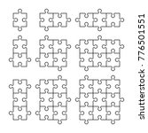 a lot of piece flat puzzle... | Shutterstock .eps vector #776501551