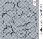 speech bubble set. thought  or... | Shutterstock .eps vector #776503195