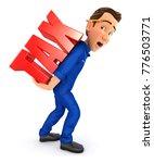 3d mechanic heavy tax ... | Shutterstock . vector #776503771