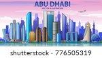 abu dhabi skyline with panorama ...   Shutterstock .eps vector #776505319